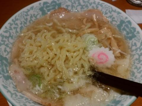 大安食堂・H29・11 塩ワンタン麺2