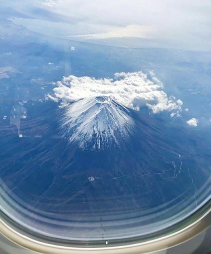 飛行機から富士