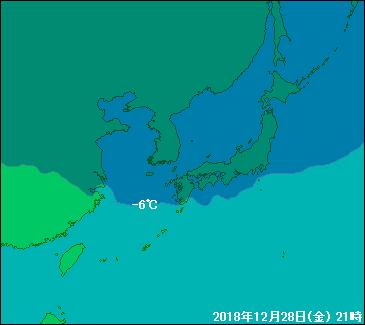 2018年12月28日寒気図