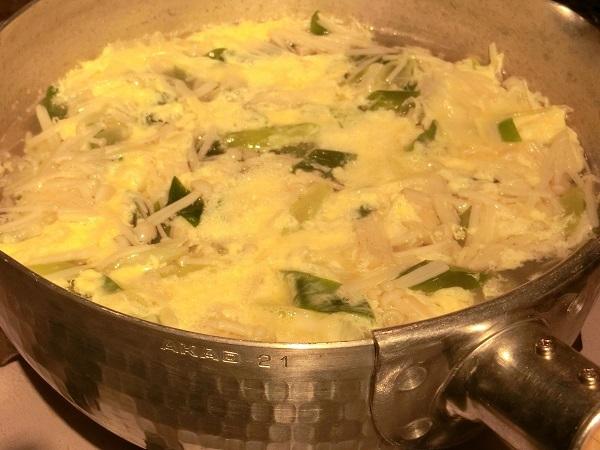 エノキのかき卵スープ