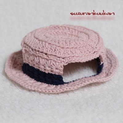 平カンカン帽654<撫子色>