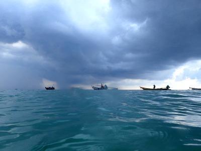 タオ島 サイリービーチ 雨季