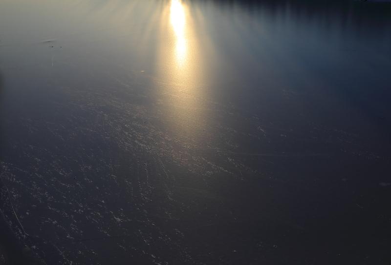 9800 凍り付いた川面