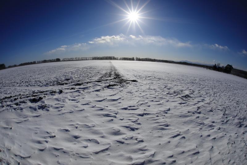 9887 農村の冬景色