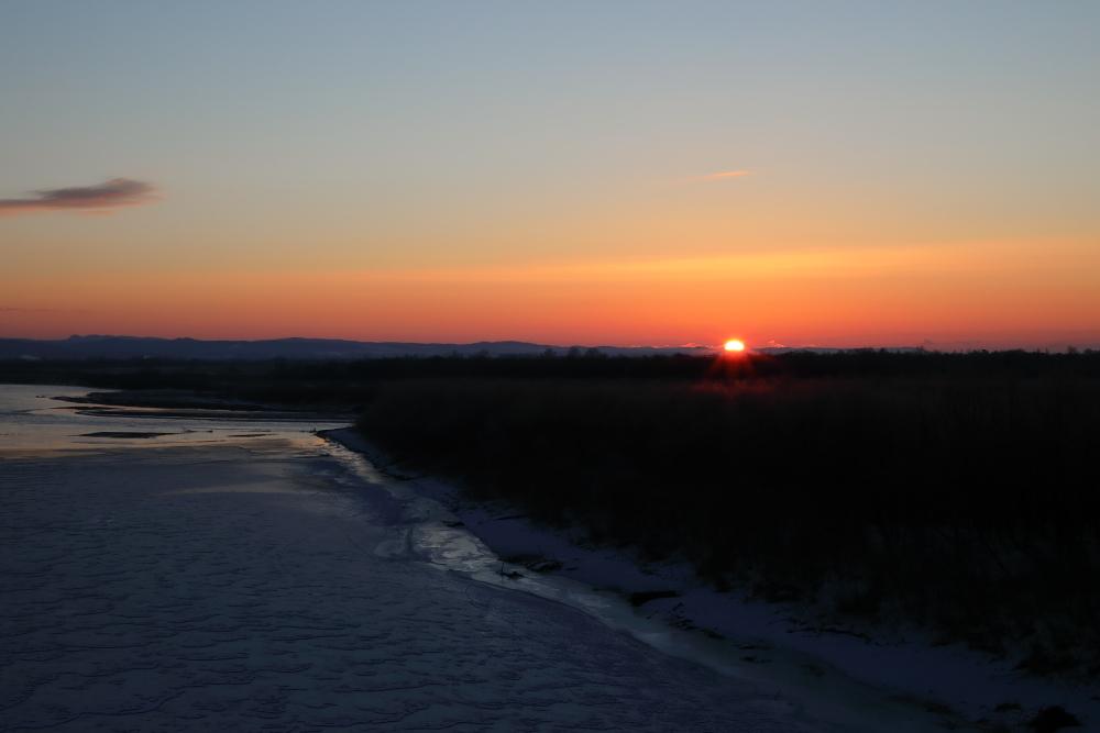 1866 千代田堰堤の日の出