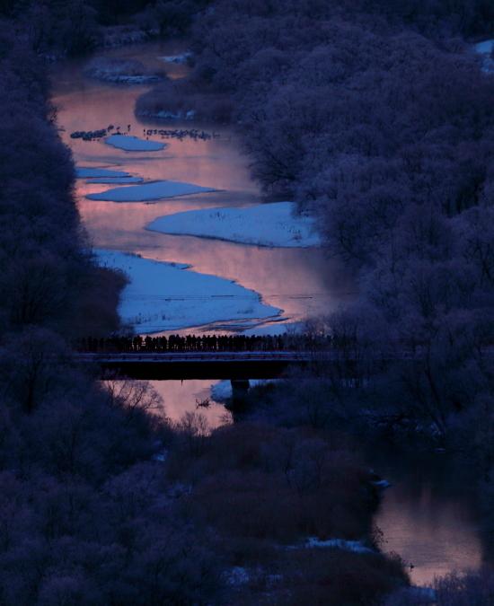 6986 音羽橋の朝焼け