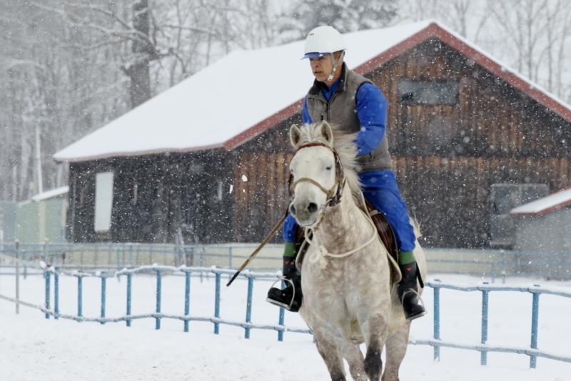 2777 雪の日の馬追い