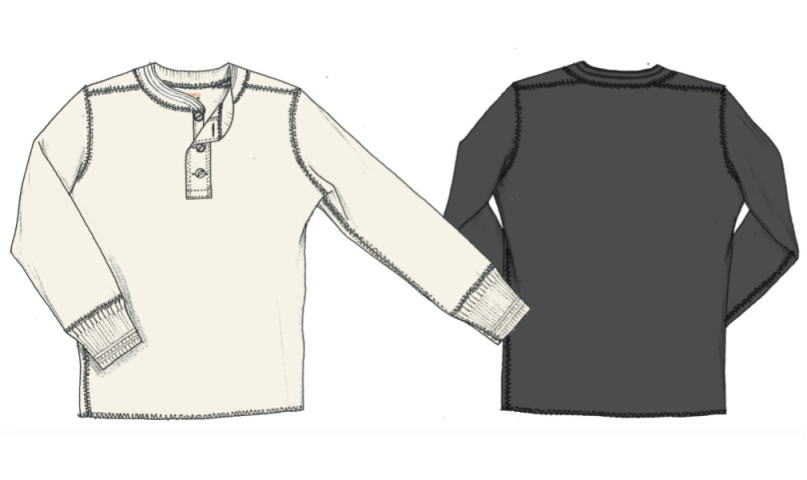 GLA DHAND THICK HENRY L/S T-SHIRTS