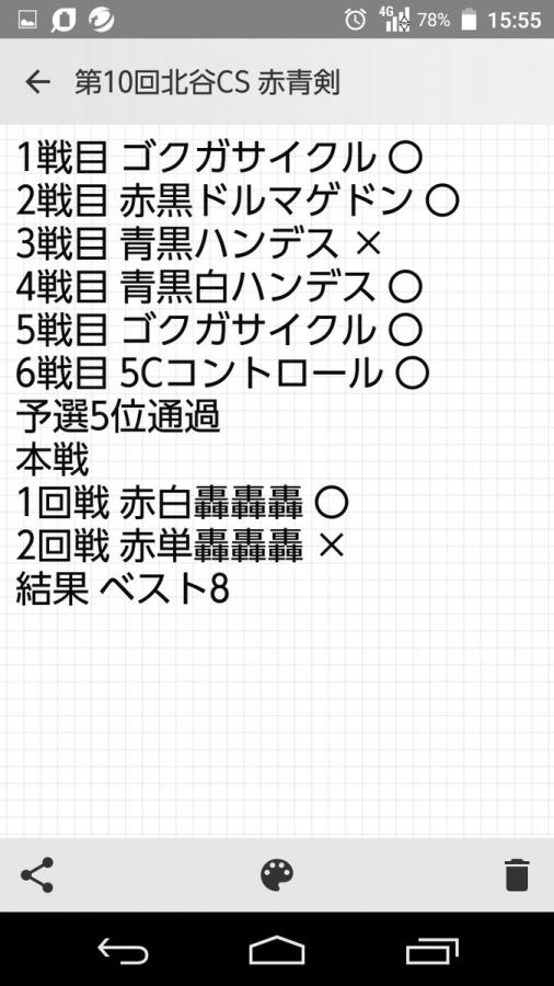 第10回CARDBOX北谷店デュエマCSベスト8 赤青ドギラゴン剣 みんとさん 戦績