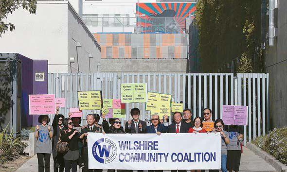 【旭日旗】米LAの公立学校に「旭日旗に似た壁画」韓国系団体が抗議活動の画像3-1