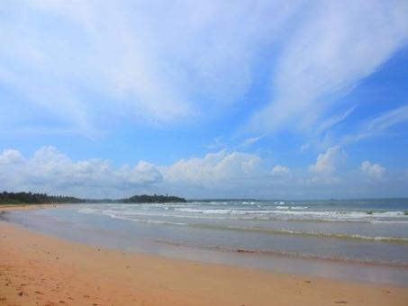 インド洋,海の浜辺