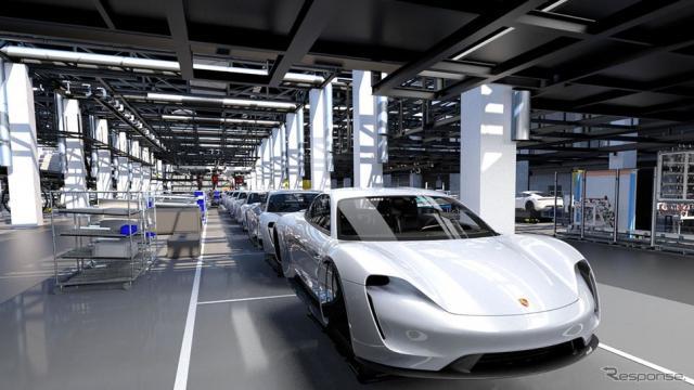 【電動ポルシェ】ポルシェ初の市販EV、タイカン …初年は年間2万台の生産を計画