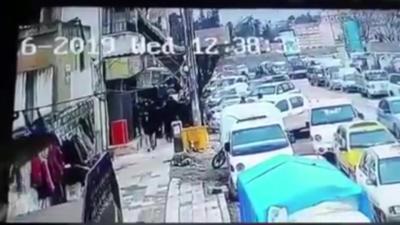 【衝撃!】シリアで自爆テロの瞬間!(観覧注意!)
