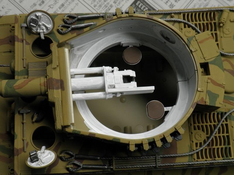タイガーⅠ完成砲塔内部