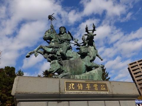 小田原駅前北條早雲公の像