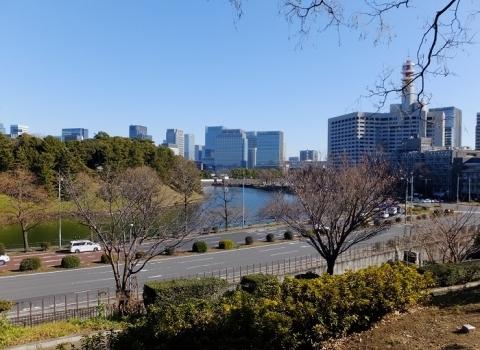 永田町1丁目1番から東方の眺め