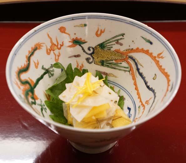 20181114 菊の井 5 酢のもの レンコンと糸目昆布 土佐酢あえ 21㎝ DSC01228