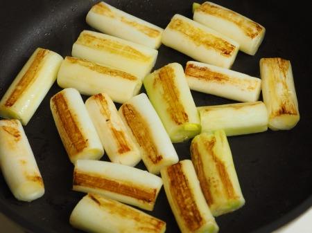 つぶ貝缶詰と長ねぎのうま煮006