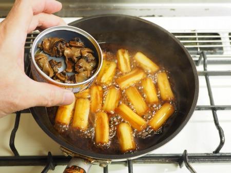 つぶ貝缶詰と長ねぎのうま煮016