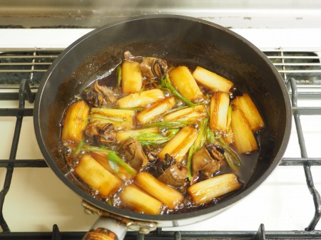 つぶ貝缶詰と長ねぎのうま煮019