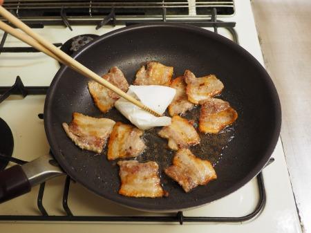 レンコンと豚バラの照り焼き035