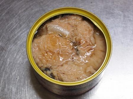 鮭缶水炊き、チキンラーメン075