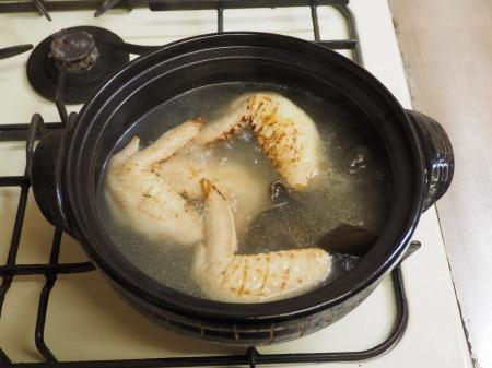 鮭缶水炊き、チキンラーメン072