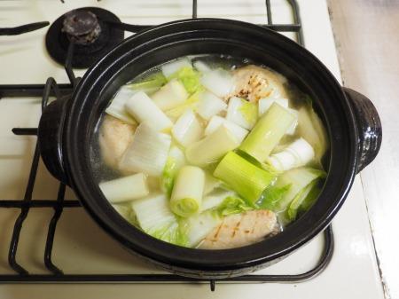 鮭缶水炊き、チキンラーメン078