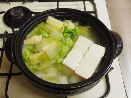 鮭缶水炊き、チキンラーメン082