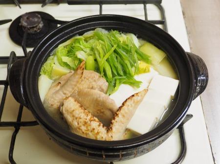 鮭缶水炊き、チキンラーメン084