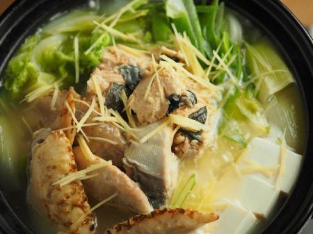 鮭缶水炊き、チキンラーメン008