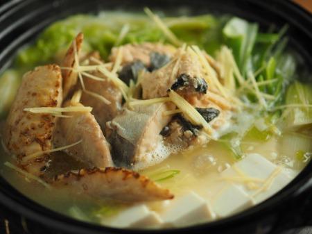 鮭缶水炊き、チキンラーメン032