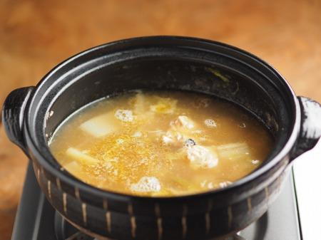 鮭缶水炊き、チキンラーメン042