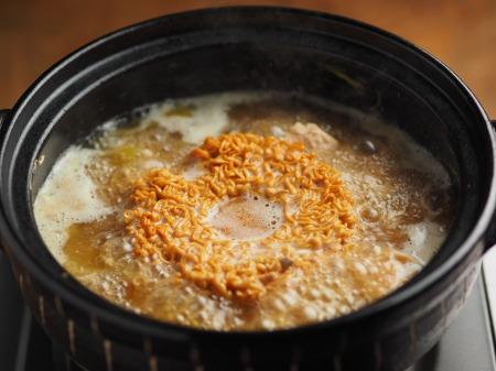 鮭缶水炊き、チキンラーメン052