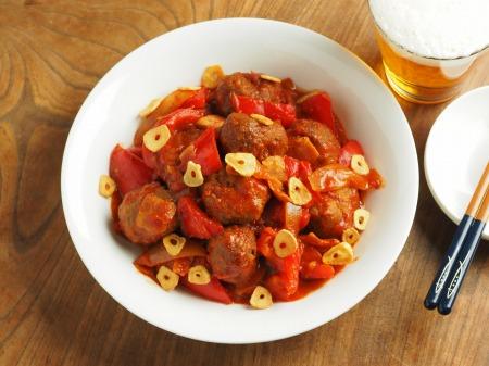 ミートボールのトマト煮017