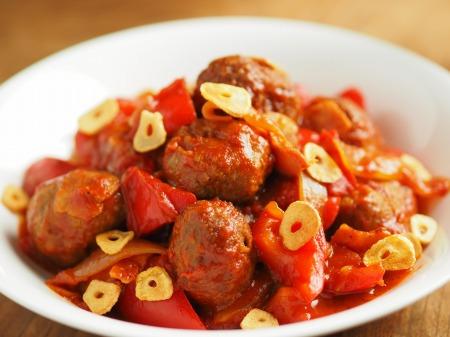 ミートボールのトマト煮012