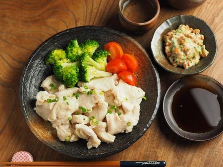 鶏むね水晶の梅味噌納豆添012