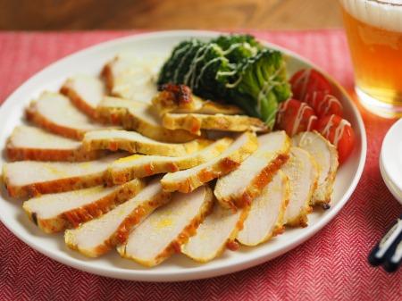 鶏むね肉のカレーマヨ焼き020