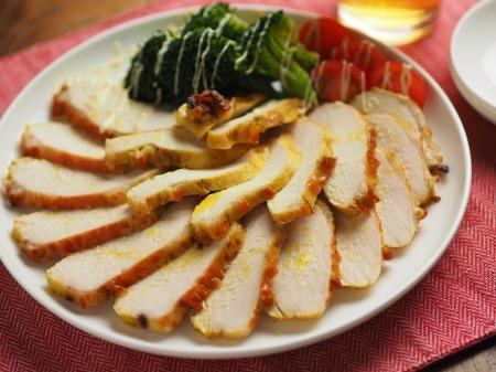 鶏むね肉のカレーマヨ焼き016