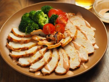鶏むね肉のオーロラソース焼き017