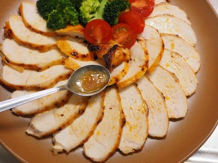 鶏むね肉のオーロラソース焼き040