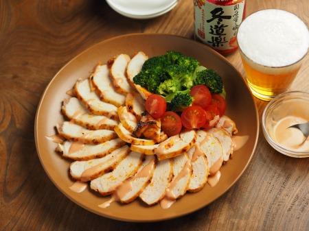 鶏むね肉のオーロラソース焼き013