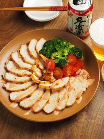 鶏むね肉のオーロラソース焼き014