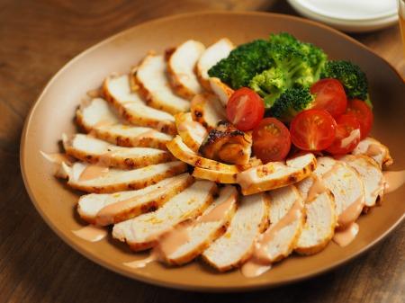 鶏むね肉のオーロラソース焼き015