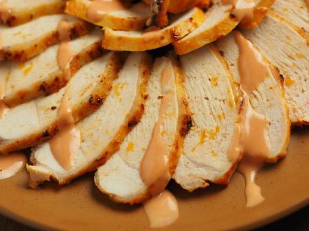 鶏むね肉のオーロラソース焼き023