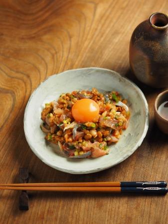 アジたたきのキムチ納豆和え012