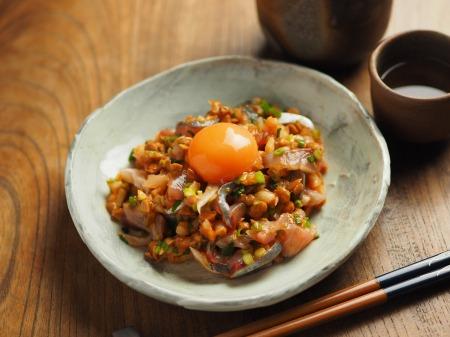 アジたたきのキムチ納豆和え009