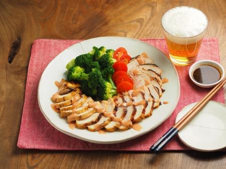 鶏むね肉のオーロラソース焼003