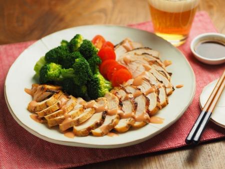 鶏むね肉のオーロラソース焼007