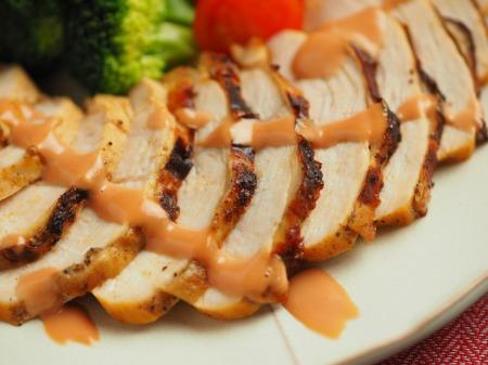 鶏むね肉のオーロラソース焼015